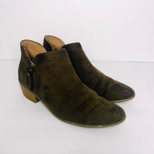 Just Fab Viola Olive Green Ankle Booties 9